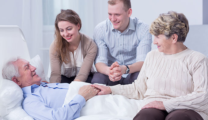 Palliative Care - Family offering Palliative Care for Relative