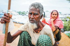 ERDO has been providing food relief for Rohingya refugees.