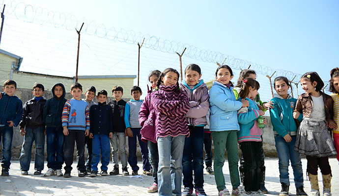 Refugees - Children in Refugee camp