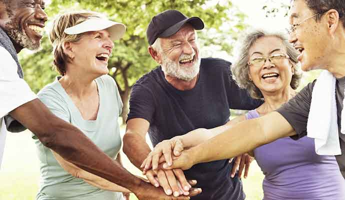 Seniors - Seniors enjoy gift of life and age
